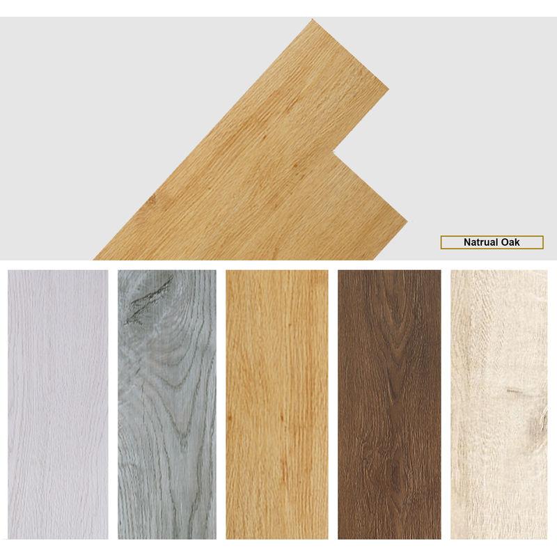 Image of Easyfloor - Self adhesive PVC Floor Planks Tiles Natural Oak