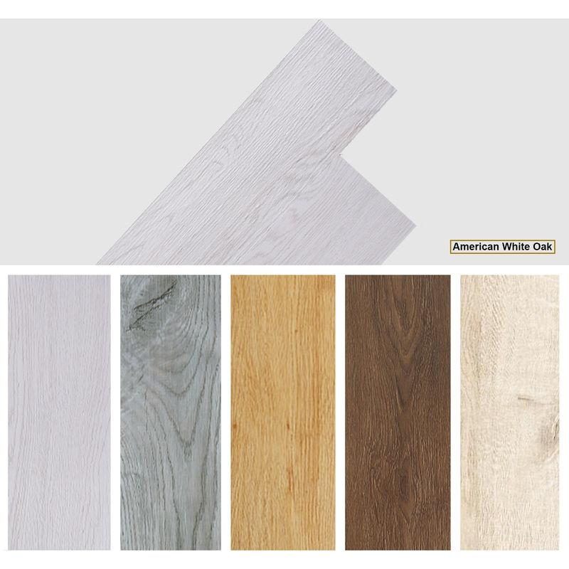Image of Easyfloor - Self adhesive PVC Floor Planks Tiles American Oak White