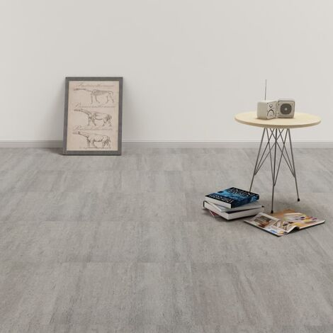 Self-adhesive PVC Flooring Planks 5.11 m² Grey Stippled