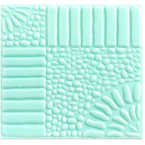Self-adhesive wallpaper anti-collision foam wallpaper 3D wall sticker in three dimensions self-adhesive wallpaper (white) light blue 32 * 32cm (10pcs)