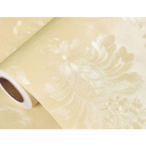 Self-adhesive wallpaper monochrome monochrome embossed waterproof bedroom living room wallpaper in the European style 3 meters