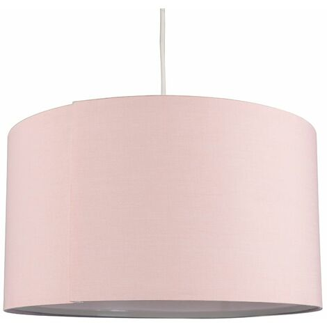 Self Assembly Cotton Ceiling Pendant Table Floor Lamp Light Shade - Pink - Pink