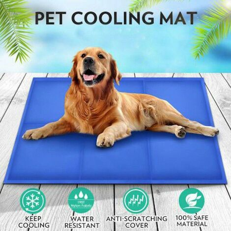 """main image of """"SELF COOLING COOL GEL MAT PET DOG CAT HEAT RELIEF NON-TOXIC SUMMER 40CM X 30CM"""""""