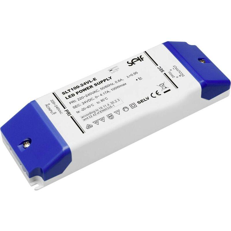 SLT100-12VL-E Trasformatore per LED Tensione costante 100 W 0 - 8.33 A 12 V/DC non dimmerabile, adatto - Self Electronics