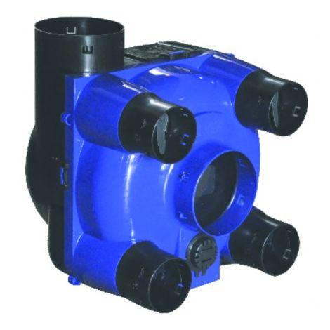 Self-regulating Mechanical Ventilation system (VMC) case for 4 sanitary installations