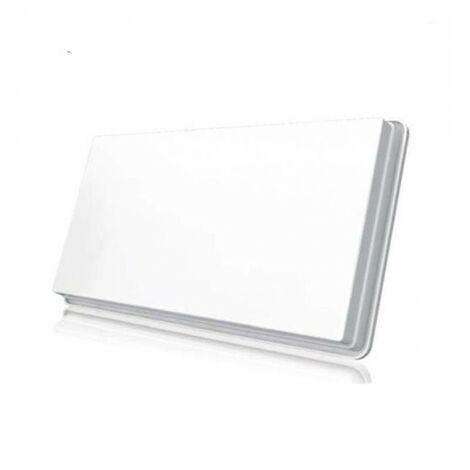 SELFSAT Parabole satellite Plate 2 Sortie avec LNB intégré + Kit fixation Fenêtre - Blanc
