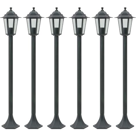Selinsgrove 6-Light 110cm Post Light by Ophelia & Co. - Green