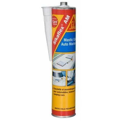 Sellador adhesivo especial para carrocerías de coches y barcos - SIKA Sikaflex AM - Blanco - 300ml