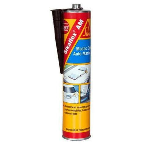Sellador adhesivo especial para carrocerías de coches y barcos - SIKA Sikaflex AM - Negro - 300ml