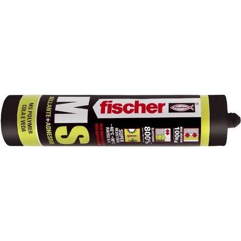 Sellador adhesivo MS Plus cristal cartucho 300ml FISCHER