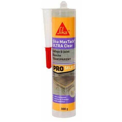 Sellador adhesivo multiusos - SIKA Maxtack Ultra Clear - Transparente - 290ml - Transparent