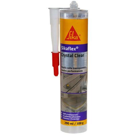 Sellador adhesivo multiusos SIKA Sikaflex Crystal Clear - Transparente - 300ml