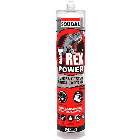 Sellador adhesivo T-Rex Turbo transparente 290ml Soudal