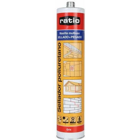 SELLADOR POLIURETANO RATIO 300 ML. GRIS
