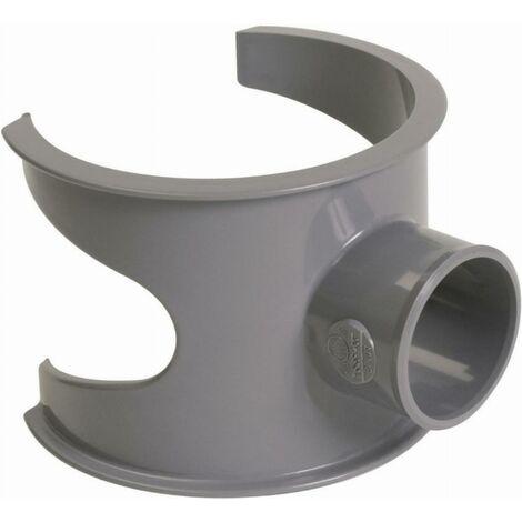 Selle de branchement NICOLL - 90° PVC pour tube d'évacuation gris - Ø 100/40 mm - SL104
