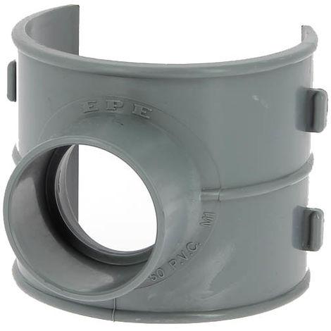 Selle de branchement PVC 90° O100-125 sorite O50