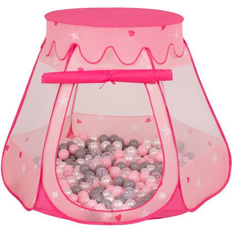 Selonis Tente 105X90cm/100 Balles Château Avec Les Balles Plastiques Piscine À Balles Pour Enfants