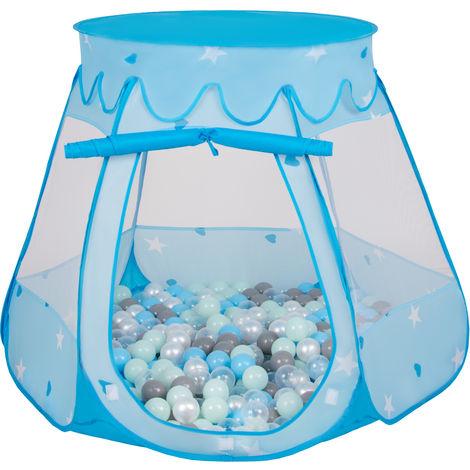 Selonis Tente 105X90cm/200 Balles Château Avec Les Balles Plastiques Piscine À Balles Pour Enfants