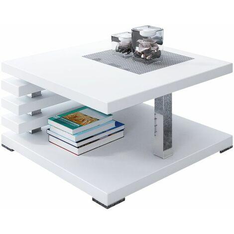 Selsey Ariene - Banco / Mesa de centro - 60x60 cm - blanco mate - moderno