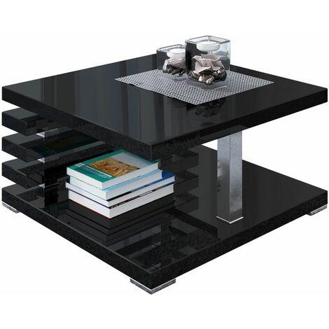 Selsey Ariene - Banco / Mesa de centro - 60x60 cm - negro brillante - moderno
