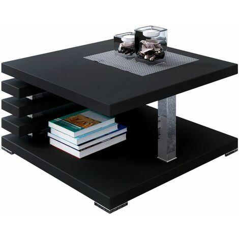 Selsey Ariene - Banco / Mesa de centro - 60x60 cm - negro mate - moderno