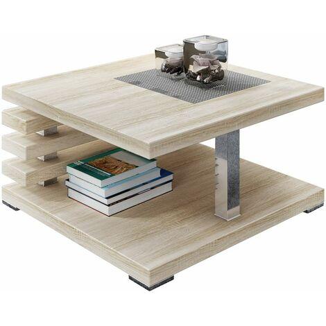 Selsey Ariene - Banco / Mesa de centro - 60x60 cm - roble sonoma - moderno
