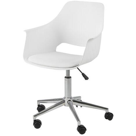 Selsey BERCHEZ - Bürostuhl / ergonomischer Schreibtischstuhl Weiß Kunststoff / Kunstleder höhenverstellbar