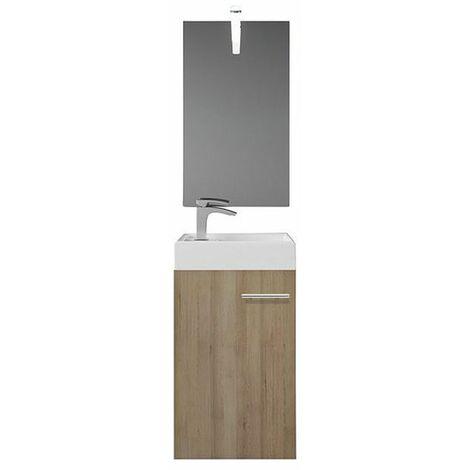Selsey BERDOR - Ensemble de meubles de salle de bain - hêtre truffé - placard - lavabo - style moderne