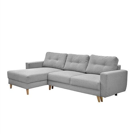Selsey Bertram - Corner Sofa Bed - Grey - 237 cm - Scandinavian