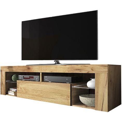 Selsey Bianko Meuble Tv Banc Tv Chene Lancaster 140 Cm Sans Led Mm5903025217628