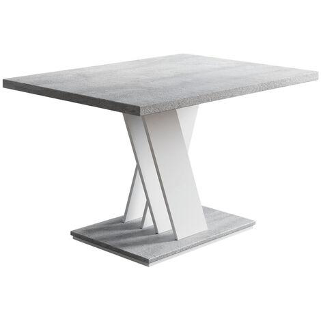 Selsey Blackfire - banco / mesa de centro - 100x70 cm - blanco mate / hormigón - moderno