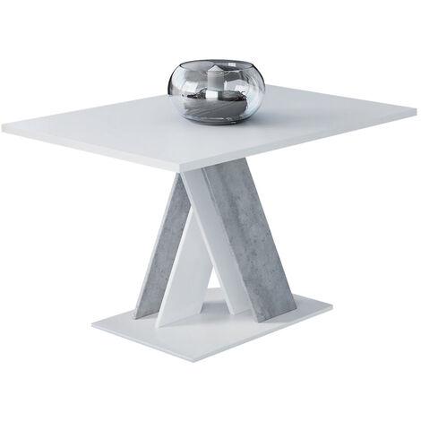 Selsey Catwort - Banco / mesa de centro - 120x60 cm - blanco mate / hormigón - moderno