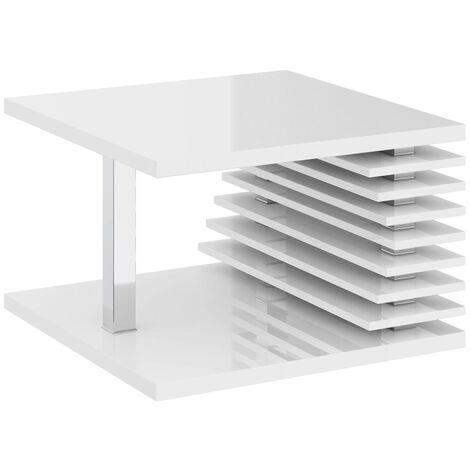 Selsey Dianella - Banco / mesa de centro - 70x70 cm - blanco brillo - moderno