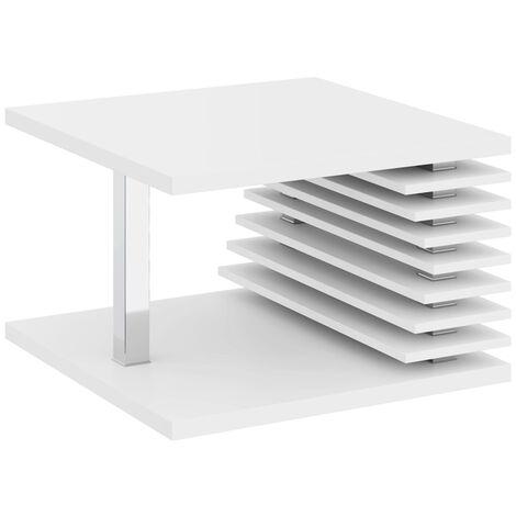 Selsey Dianella - Banco / mesa de centro - 70x70 cm - blanco mate - moderno