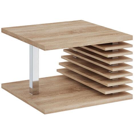 Selsey Dianella - Banco / mesa de centro - 70x70 cm - roble sonoma - moderno