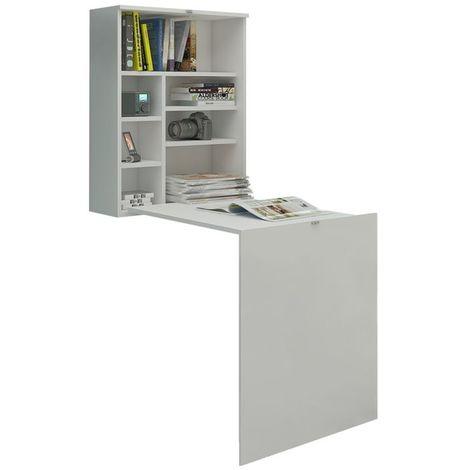 Selsey FUNCTION - Bureau escamotable / Bureau pliable (blanc mat, surface du plateau 71x52 cm)
