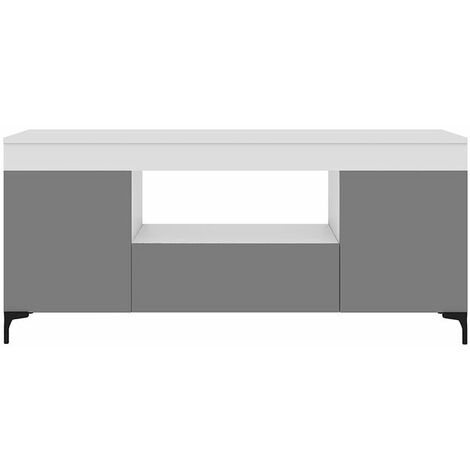 Selsey Gusto - Mueble TV - blanco mate / gris mate - 137 cm - moderno