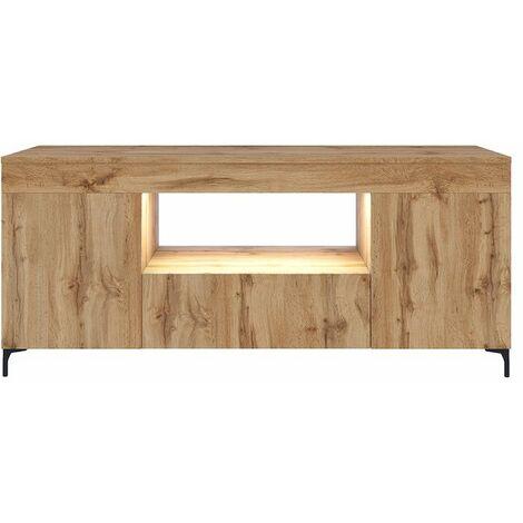 Selsey Gusto - Mueble TV - Roble Lancaster - 137 cm - con iluminación LED - moderno