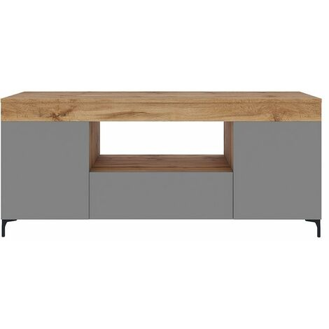 Selsey Gusto - Mueble TV - Roble Lancaster / Gris mate - 137 cm - moderno