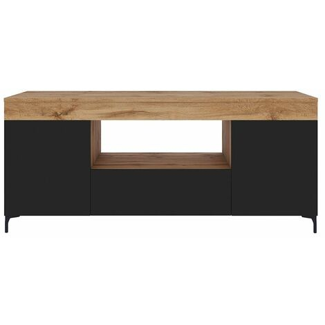 Selsey Gusto - Mueble TV - Roble Lancaster / Negro Mate - 137 cm - moderno