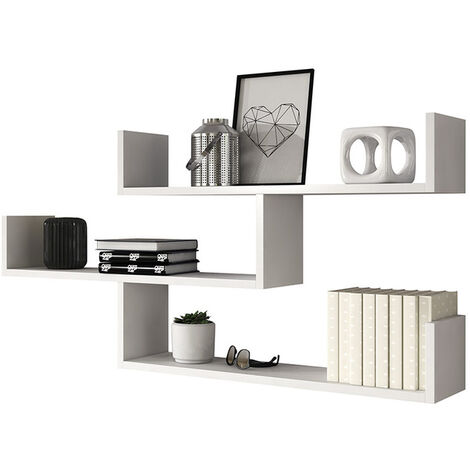 Selsey Kassi - 3 Level Floating Shelf - White