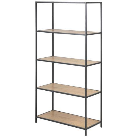 Selsey KRAPINA - Regal / Bücherregal im Industrial-Style - 5 offene Fächer - 150 cm hoch