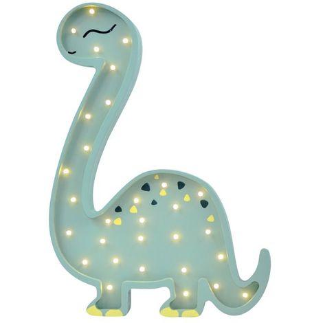 Selsey LULUMI - Lampe veilleuse / Lampe chambre enfant en forme de dinosaure diplodocus vert (lumière chaude, ampoules LED incluses)
