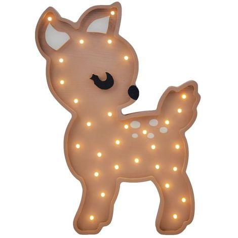 Selsey LULUMI - Lampe veilleuse / Lampe chambre enfant en forme de faon (lumière chaude, ampoules LED incluses)