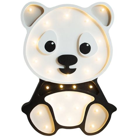 Selsey LULUMI - Lampe veilleuse / Lampe chambre enfant en forme de panda (lumière chaude, ampoules LED incluses)