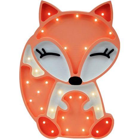 Selsey LULUMI - Lampe veilleuse / Lampe chambre enfant en forme de renard (lumière chaude, ampoules LED incluses)