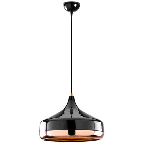"main image of ""Selsey Queenie - Lámpara de techo - cobre / negro - 36 cm - modern"""