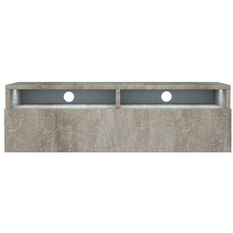 Selsey Rednaw - Mueble TV con cajón - Concreto - 100 cm - con iluminación LED