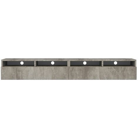 Selsey Rednaw - Mueble TV con dos cajones - Concreto - 200 cm