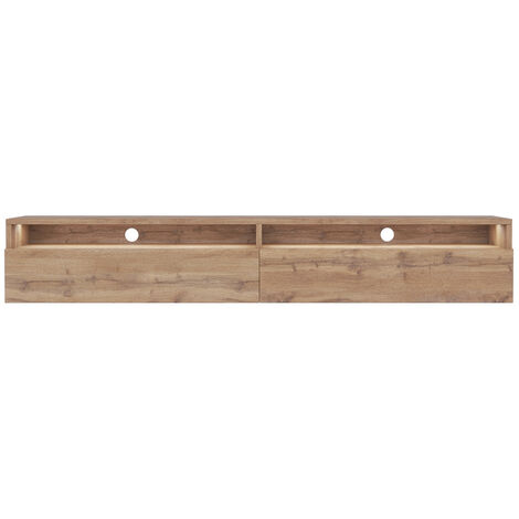 Selsey Rednaw - TV Stand 180 cm - Wotan Oak with LED lighting